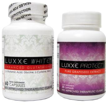 Luxxe White Enhanced Glutathione 60 capsules and Luxxe Protect Grapeseed Extract 30 capsules