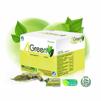 Authentic JC Premiere 4GREEN Food Supplement 100 Vegetable Capsules, Box of 1 Price Philippines