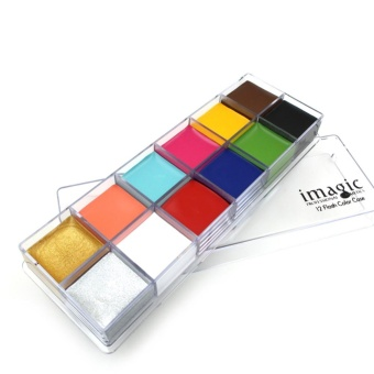 IMAGIC 12 Colors Face Body Flash Tattoo Oil Painting Pigment MakeupTool #2 - intl