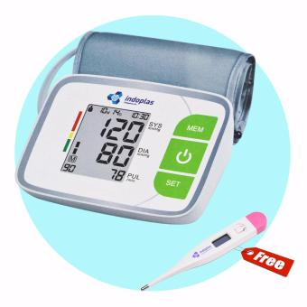 Indoplas Blood Pressure Monitor- Fully Automatic - with Free Digital Thermometer
