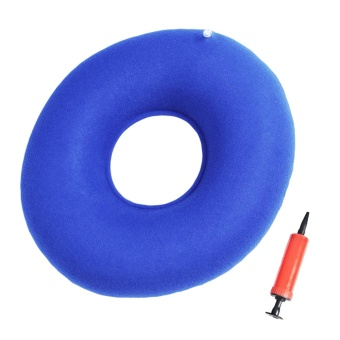 Inflatable Ring Donut Seat Cushion Pillow Hemorrhoid Treatment Pad with Air Pump for Cars Homes Office Wheelchair Pregnancy Women Hemorrhoid Patients - intl