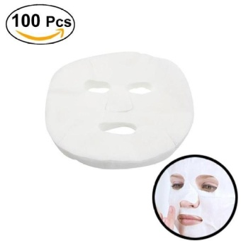 International 100Pcs Disposable Facial Mask Pure Cotton PaperFacemask Sheetultra-Thin Diy Cosmetic Face Skin Care Mask - intl