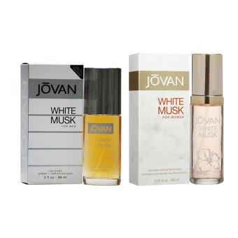 Jovan White Musk for Men 88ML and Jovan White Musk for Women 96.1ML Couple Perfume