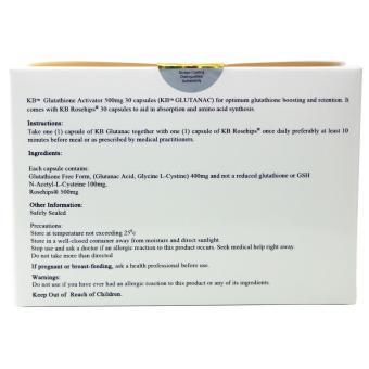 KB Kyusoku Bihaku Glutathione Activator plus NAC Rosehips 500mgcapsules - 3