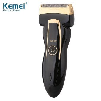 Kemei 2 Heads Electric Rechargeable Reciprocate Man Shaver Triple Blade Electric Shaving Razors Face Care 220v - intl