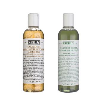 Kiehl's Kiehl's Calendula Herbal-Extract Alcohol-Free Toner 8.4oz,250ml + Cucumber Herbal Alcohol-Free Toner 8.4oz, 250ml (1 set, 2pcs) - intl
