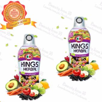 King's Herbal Fruits, Vegetables and Herbs Fusion 750ml by 2s Price Philippines