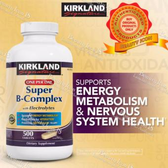 Kirkland Signature Super B-Complex with Electrolytes, Bottle of 500Tablets