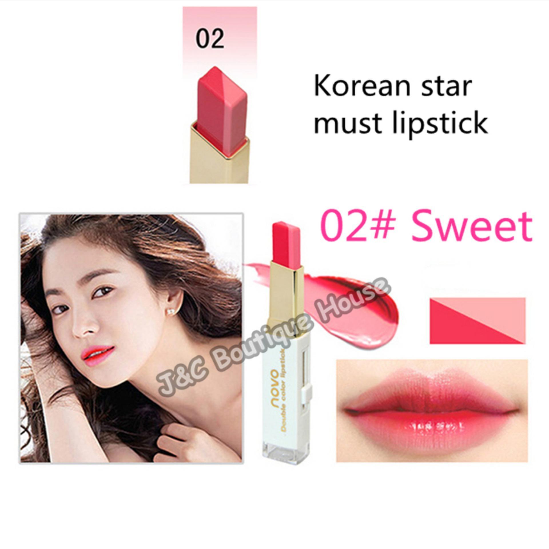 Philippines Korea Novo Double Color Lipstick Makeup Moisturizing Gradient 2