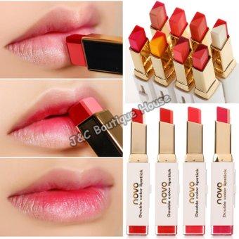 Korea NOVO Double Color Lipstick Makeup Moisturizing Color Gradient Lipstick #4 - 5