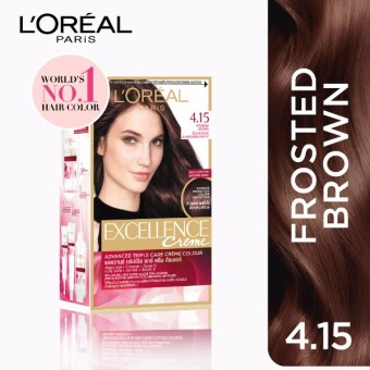 L\'Oreal Paris Excellence Creme Hair Color 14g (No.4.15 Frosted ...