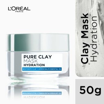 L'Oreal Paris Pure Clay Mask - Hydrating (Blue) 50g