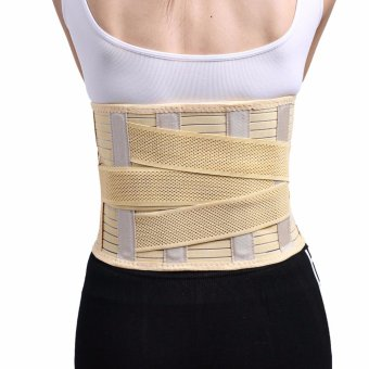 (Large)Adjustable Lumbar Back Waist Brace Support Belt Corset forweight loss Lower Back Pain Helps with Posture and for LiftingLumbar - intl - 2