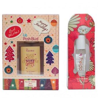 Le Posh Blvd Very Sexy Eau De Toilette 50ml with Le Posh Blvd Freida Roll-on Perfume 10ml For Women
