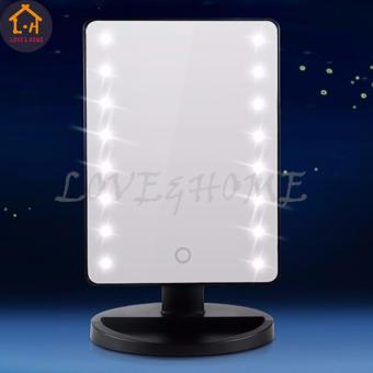 LED Vanity Makeup Mirror with Lights Table Lamp & Cosmetic Mirror (Black)