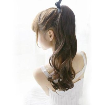 Long Curly Girl Big Wavy Ponytail Wigs Pony Hair Hairpiece Extension New