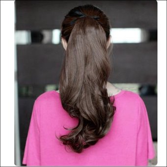 Long Curly Girl Big Wavy Ponytail Wigs Pony Hair HairpieceExtension Hot
