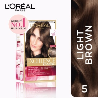 L'Oreal Paris Excellence Creme Hair Color 14g (No.5 Light Brown) Price Philippines