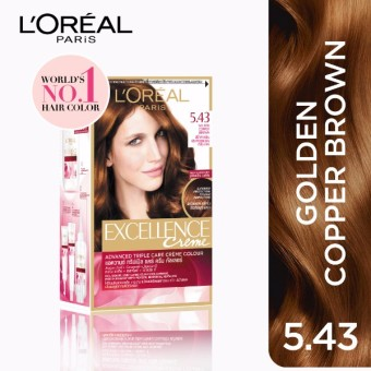 L'Oreal Paris Excellence Creme Hair Color 14g (No.5.43 GoldenCopper Brown) Price Philippines