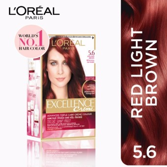 L'Oreal Paris Excellence Creme Hair Color 14g (No.5.6 Red LightBrown) Price Philippines