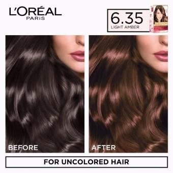 L'Oreal Paris Excellence Creme Hair Color 14g (No.6.35 Light Amber) - 2