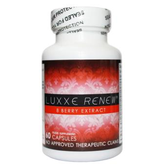 LUXXE WHITE(R) Enhanced Glutathione 60 Capsules (775mg) and LUXXE RENEW(R) 8 BERRY EXTRACT 60 Capsules (600mg)