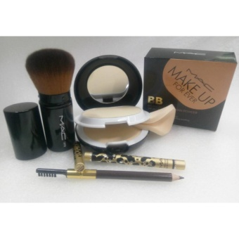 Mac Kabuki Brush ,Mac Eyebrow Pencil and Mac Make Up Forever BB2in1 Powder Set Of 3
