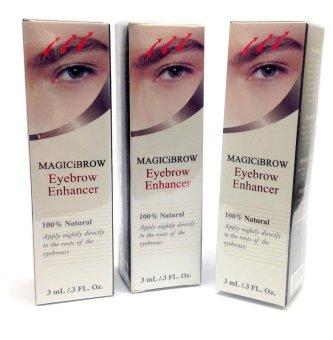 Magic iBrow Eyebrow Enhancer 100% Natural 3ml - Bundle of 3