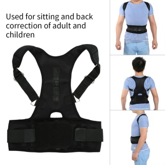 Magnetic Back Shoulder Lumbar Corrector Support Posture CorrectionBelt(L) - intl Price Philippines