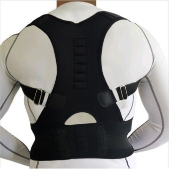 Magnetic Back Support Shoulder Posture Corrector Medical MassageBelts -L - intl Price Philippines