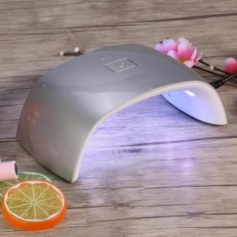 Manicure UV Nail Lamp 18W Led Gel Polish Cure Double Light Dryer Nailart Machine EU Plug Silver - intl - 3