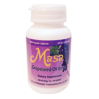 Masa Grapeseed Oil Extract 1000mg Capsules Bottle of 60