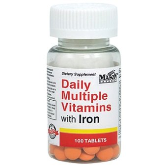 Mason Daily Multiple Vitamin with Iron Tablets Bottle of 100