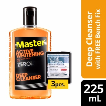 Master Deep Cleanser Active Whitening 225ml with Free Bench Clay Doh