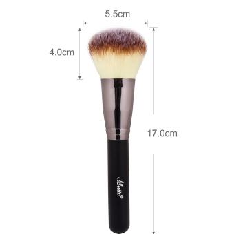 Matto 1pcs Makeup Brush Cosmetics Large Powder Brush for Face Make Up Tools Flawless Foundation Kabuki Brush (Black) - Intl - 5