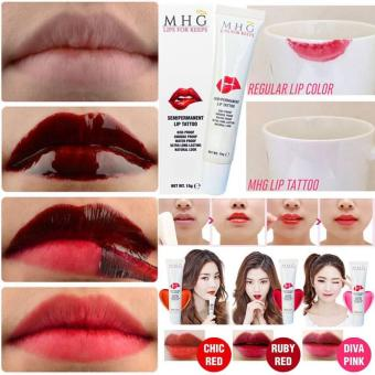 MHG Cosmetics Japan Lips for Keeps Semi Permanent Lip TattooLonglasting Lipstick Lip Tint, Ruby Red