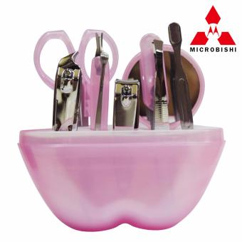 Microbishi Manicure Set 9 in 1 (Pink) with free Mini Black PoliceFlashlight - 4