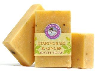 Milea Organic Lemongrass Ginger Antifungal and Antibacterial Soap Set of 3