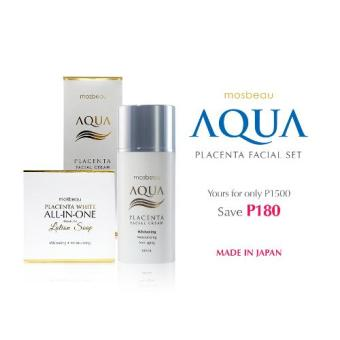 Mosbeau Aqua Placenta Facial Cream and Placenta White All-In-OnePremium Lotion Soap Beauty Set