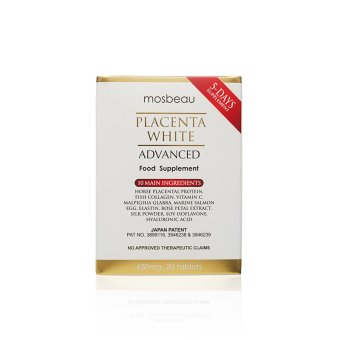 Mosbeau Placenta White Advanced Supplement 650mg Box of 20 Tablets