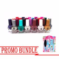 Nail Polish 24 Colored Cup No-3042 with A-85 Stainless Steel Beuaty Tool Set (Blue)  Promo Bundle BP-06 Philippines