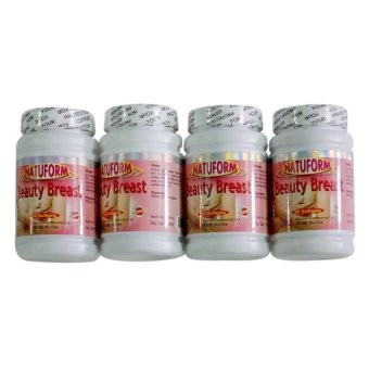 Natuform Beauty Breast Enhancer 390mg Softgel Bottle of 60 Set of 4