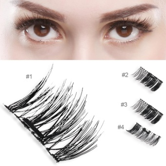Natural 3D Magnetic Thick Eye Lashes Extension Makeup Tool #2 - intl