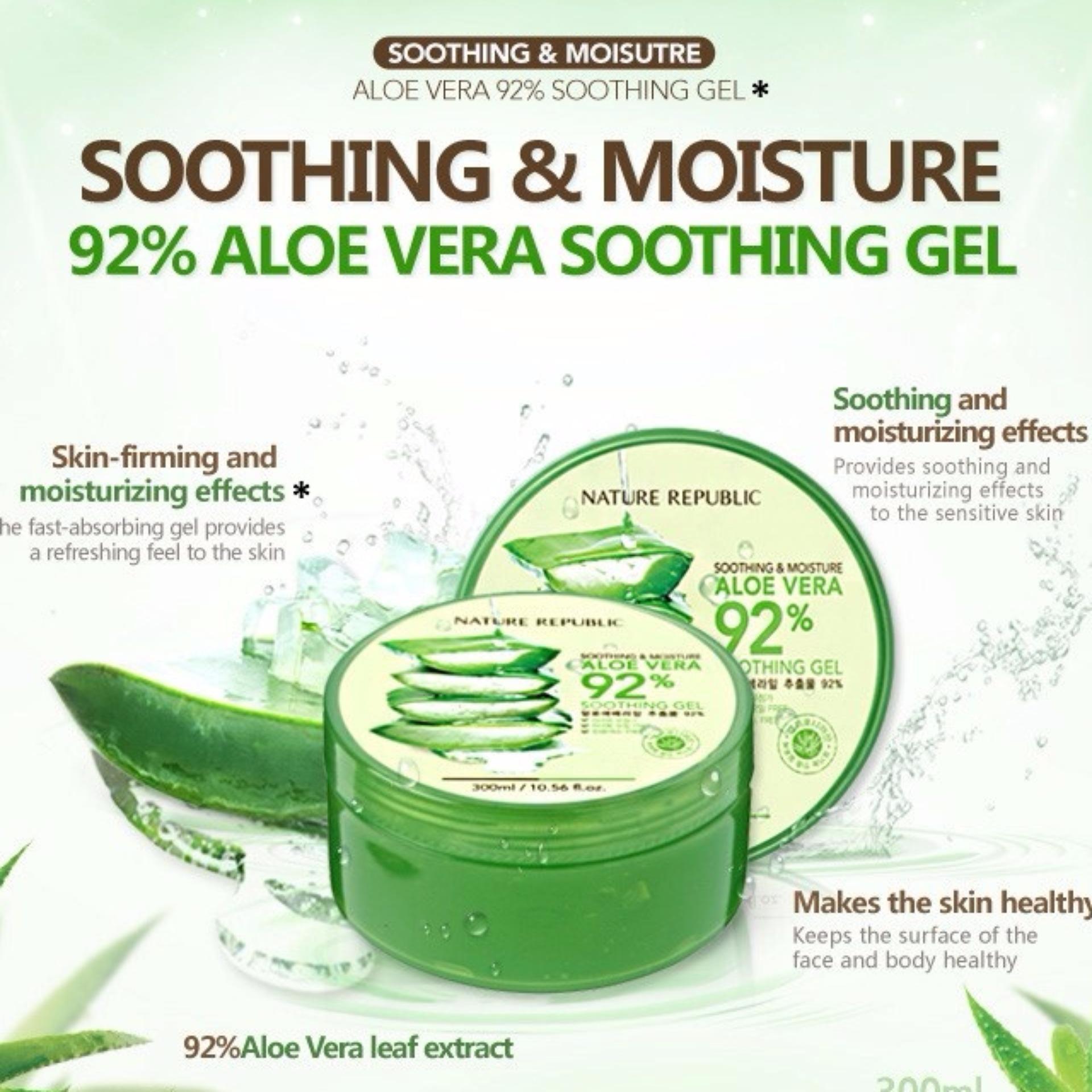 Promo Bioaqua Soothing And Moisture Aloe Vera Gel 92 Terbaru 2018 Mountea Teh 180ml Karton Philippines Nature Republic Price Listing