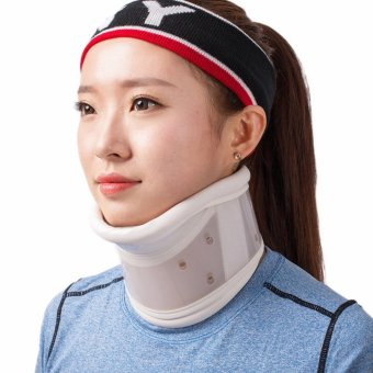 Neck Cervical Traction Collar Device Brace Support Hard Plastic forHeadache Neck Pain Hight Adjustable(M) - intl Price Philippines