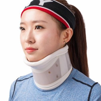 Neck Cervical Traction Collar Device Brace Support Hard Plastic forHeadache Neck Pain Hight Adjustable(S) - intl Price Philippines