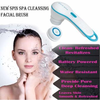 New Spin Spa Cleansing Facial Brush (White)