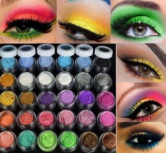 niceEshop 30 Pcs Mixed Color Glitter Loose Powder Eye Shadow Makeup Cosmetics Eye Shadow For Party,Wedding,Fashion Show - intl - 4