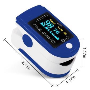 niceEshop Finger Pulse Oximeter Finger Oxygen Meter With Pulse Rate Monitor, Blue - intl - 5
