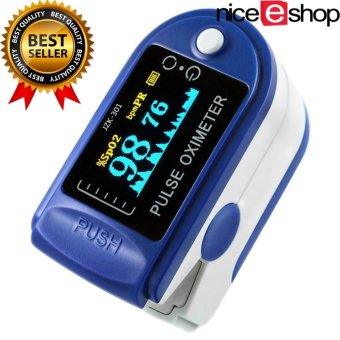niceEshop Finger Pulse Oximeter Finger Oxygen Meter With Pulse Rate Monitor, Blue - intl